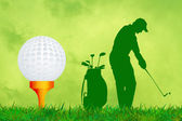 Illustration of golf — Stock Photo