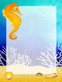 Mořský koník s rámečkem — Stock fotografie