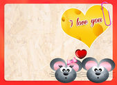 Mice in love — Stock Photo