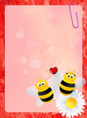 Bees in love — Stock Photo