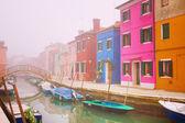 Fog in Burano — Stok fotoğraf