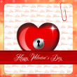 Stock Photo: Heart padlock
