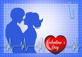 Funny Valentines postcard — Stock Photo