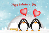 Penguins in love — Stock Photo