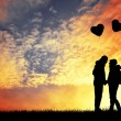 Couple with heart balloons — Stock Photo #38910173