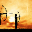 Stock Photo: Archery tournament