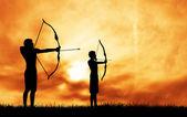 Archery tournament — Stock Photo