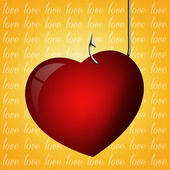 Heart with hook — Stock Photo