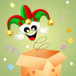 Jester in the box — Stock Photo
