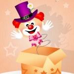 Clown surprise — Stock Photo