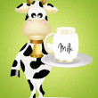 Stock Photo: Cow with milk