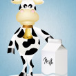 Cow with milk — Stock Photo #39388913