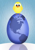 Egg-shaped world — Stock Photo