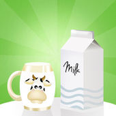 Milk tetra pak — Zdjęcie stockowe