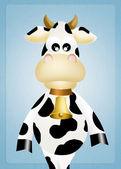 Funny kráva — Stock fotografie