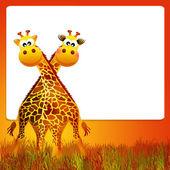 长颈鹿卡通 — 图库照片