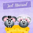 Stock Photo: Wedding of mice