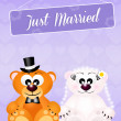 Wedding of bears — Stock Photo