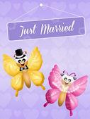 Wedding of butterflies — Stock Photo