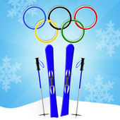 Winter Olympics games — Stock Photo