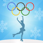Winter Olympics games — Stockfoto