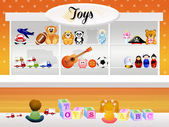 Toy store — Stock Photo