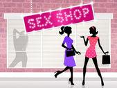 Seks shop — Zdjęcie stockowe