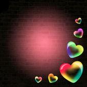 Soap bubbles in heart shape — Stock Photo