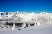 Paganella lyžování — Stock fotografie