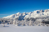Dolomiterna i vinter — Stockfoto