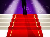 Red carpet — Stockfoto