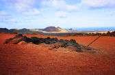 Volcanic landscape, Lanzarote — Stock Photo