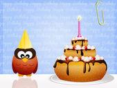 Tort urodzinowy — Zdjęcie stockowe