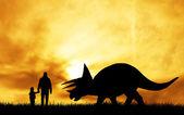 Prehistorische dinosaur — Stockfoto