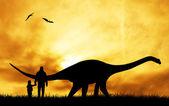 Prehistoric dinosaur — Stock Photo