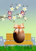 Easter chocolate eggs — 图库照片
