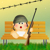 Baby soldier — Photo
