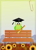 Laureato di uccello — Foto Stock