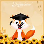 Red fox graduate — Stock Photo