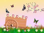 Handcart in summer — Stock Photo