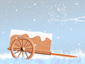 Handcart in winter — Stock Photo