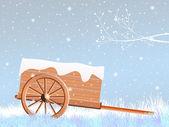 Handcart in winter — Stock Photo