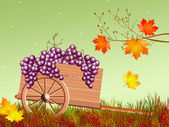 Handcart in autumn — Stock Photo