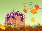 Handcart in autumn — Stock Photo