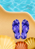 Flips-flops in summer — Foto de Stock