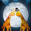 Giraffe in the moonlight — Stock Photo
