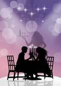 Dinner for two — Stock Photo
