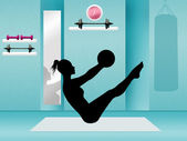 Pilates in the gym — Stock Photo