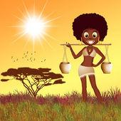 非洲女孩 — 图库照片