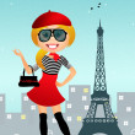 Girl in Paris — Stock Photo